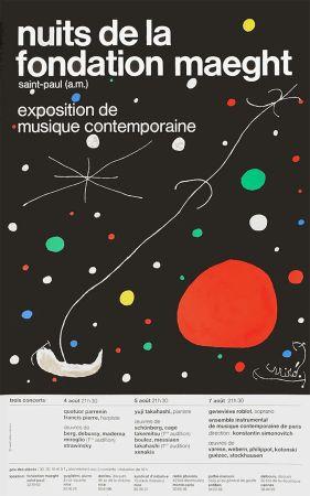Litografia Miró - LES NUITS DE LA FONDATION MAEGHT (1967).