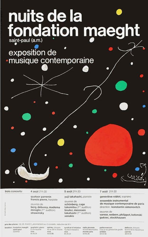 Manifesti Miró - LES NUITS DE LA FONDATION MAEGHT (1967). Affiche originale