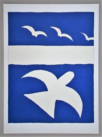 Litografia Braque (After) - Les oiseaux
