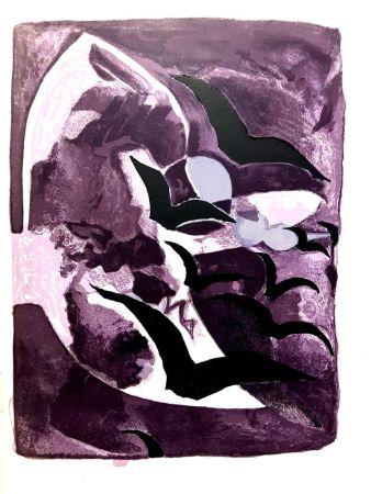 Litografia Braque - Les Oiseaux de Nuit