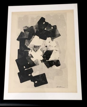 Monotipo Arman - Les Palettes De Viallalt, 1966