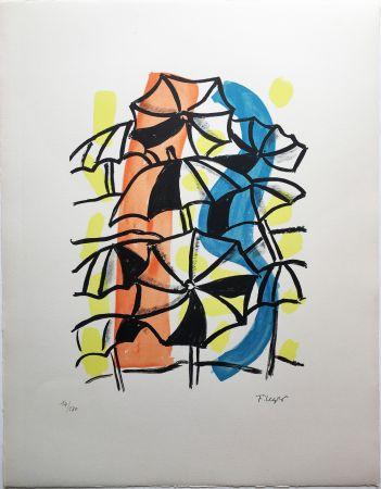 Litografia Leger - LES PARAPLUIES (La Ville, 1959)