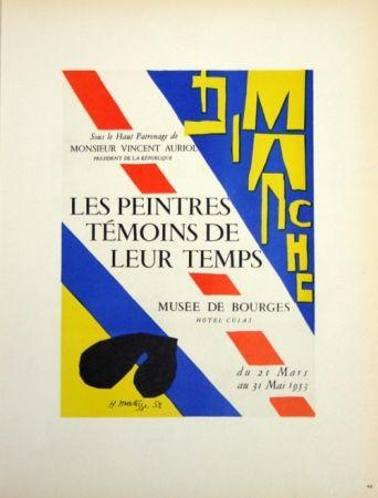 Litografia Matisse - Les Peintres Témoins de Leur Tepls