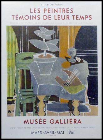 Litografia Braque - LES PEINTRES TEMOINS DE LEUR TEMPS