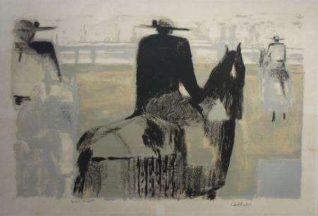 Litografia Cathelin - Les picadors