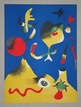Litografia Miró (After) - Les quatre éléments - Air