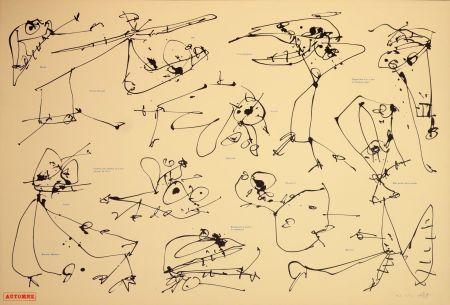 Litografia Saura - Les quatre saisons, Automne