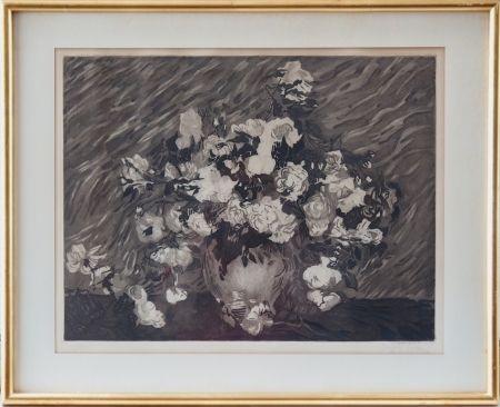 Acquaforte E Acquatinta Villon - Les roses (d'après Van Gogh)
