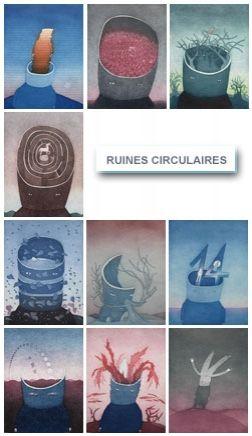 Acquaforte E Acquatinta Folon - Les Ruines Circulaires - The Circular Ruins (complet suite)