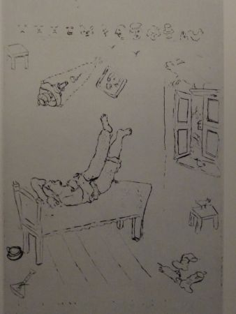 Acquaforte Chagall - Les sept Peches Capitaux: La Paresse 1