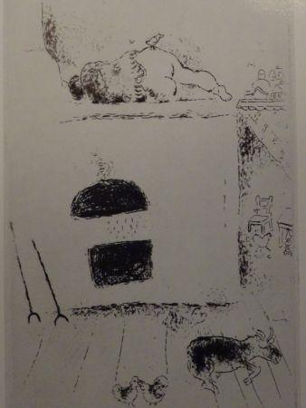 Acquaforte Chagall - Les sept Peches Capitaux: La Paresse 2