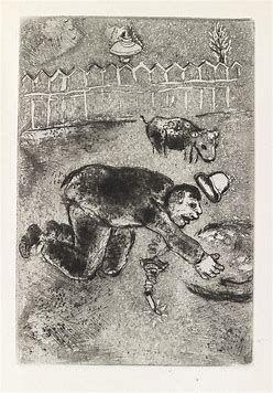 Acquaforte Chagall - Les sept Peches capitaux: L'Avarice 11