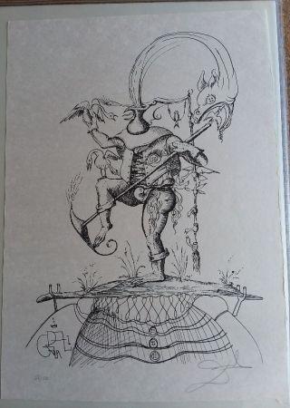 Litografia Dali - Les Songes Drolatiques De pantagruel