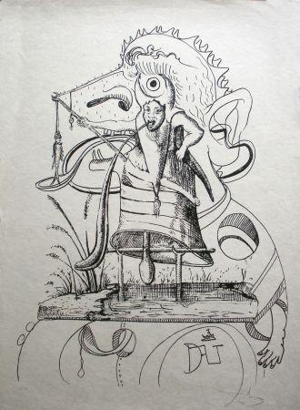 Litografia Dali - Les Songes drolatiques de Pantagruel 11