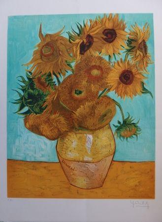 Litografia Van Gogh - Les Tournesols