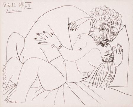 Litografia Picasso - L'etreinte Vii