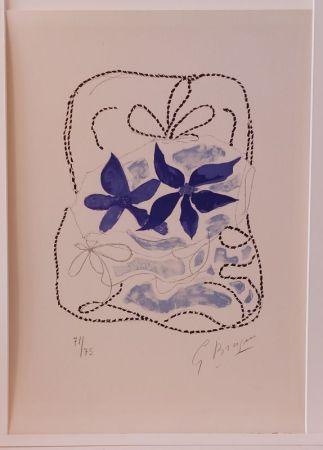 Litografia Braque - Lettera Amorosa : Les deux iris bleus