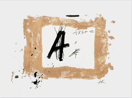 Litografia Tàpies - Lettre