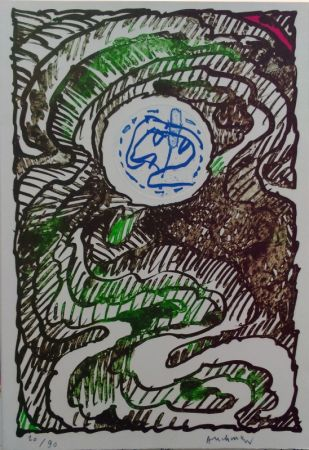 Litografia Alechinsky - L'excédante 2