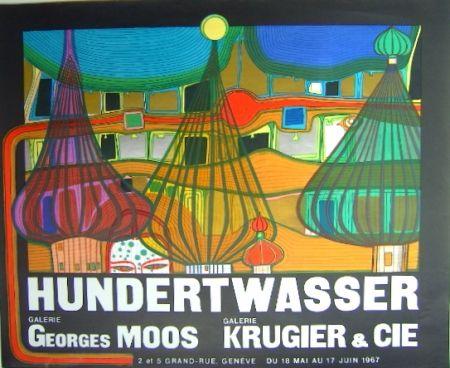 Litografia Hundertwasser - L'Expulsion