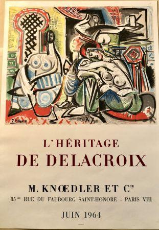 Litografia Picasso - L'héritage De Delacroix