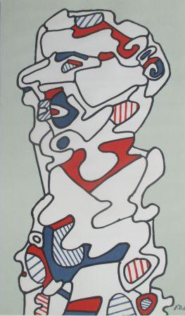 Litografia Dubuffet - L'Homme