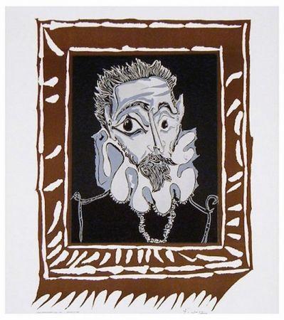 Litografia Picasso - L'Homme à la Fraise (Man with Ruff)