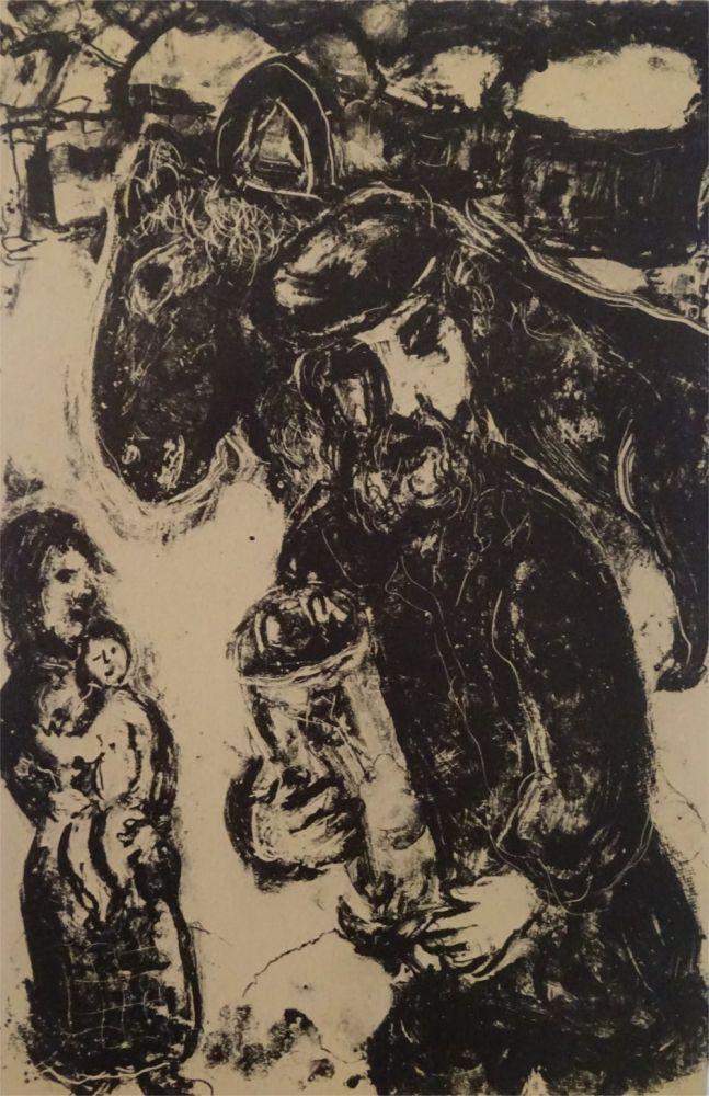 Litografia Chagall - L'Homme a la Thora
