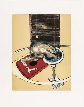 Acquaforte E Acquatinta Bacon - L'homme au lavabo