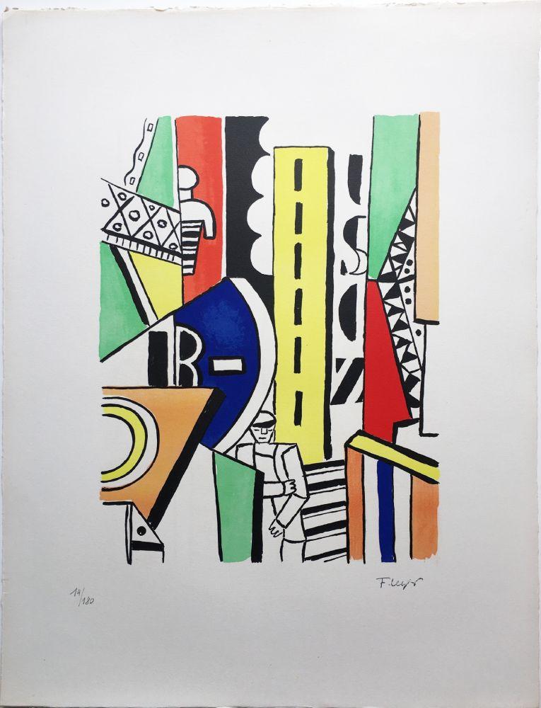 Litografia Leger - L'HOMME DANS LA VILLE (1959).