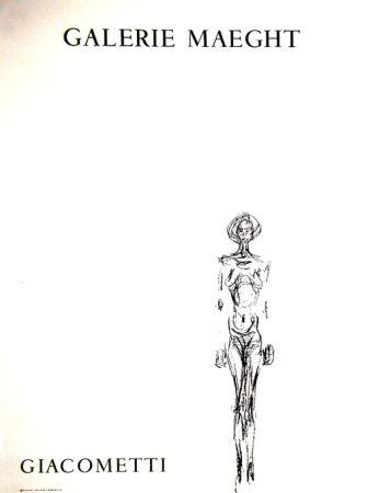 Litografia Giacometti - L'Homme Debout