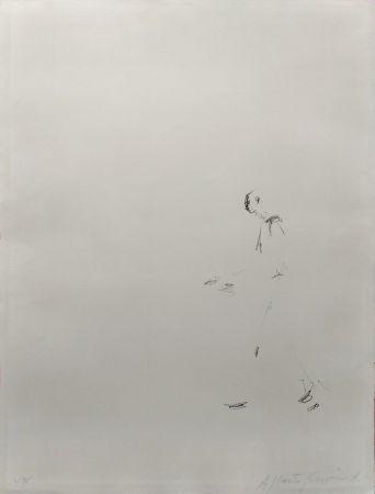 Litografia Giacometti - L'HOMME QUI MARCHE