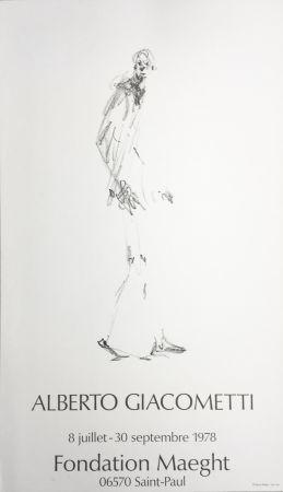 Manifesti Giacometti - L'HOMME QUI MARCHE. Fondation Maeght du 8 juillet au 30 septembre 1978.