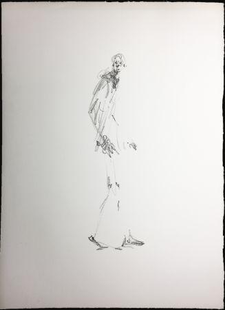 Litografia Giacometti - L'HOMME QUI MARCHE. Lithographie pour