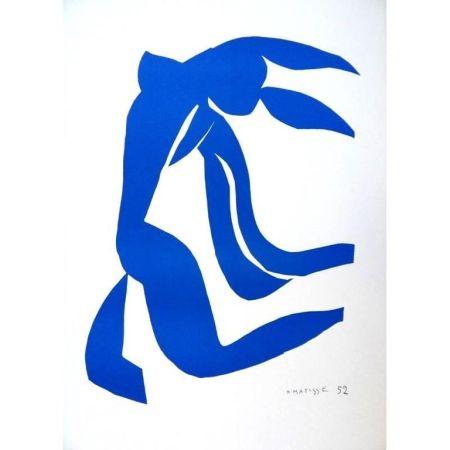Litografia Matisse - Liberté Bleu