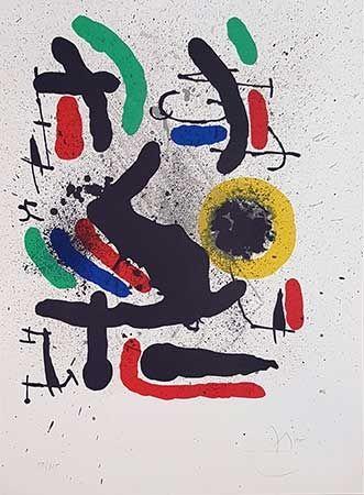 Litografia Miró - Liberté des libertés