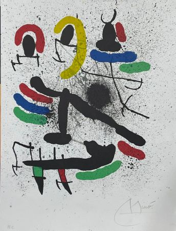 Litografia Miró - Liberté des libertés 1