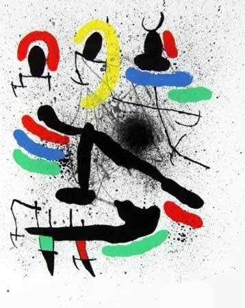 Litografia Miró - Liberté des libertés I