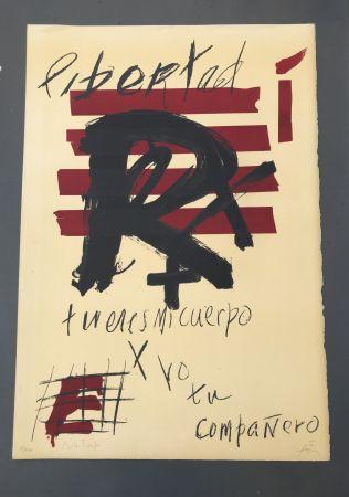 Litografia Tàpies - Libertad