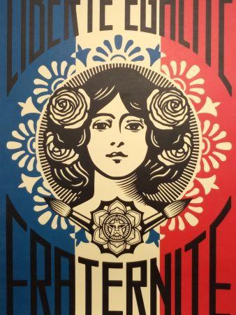 Litografia Fairey - Liberte