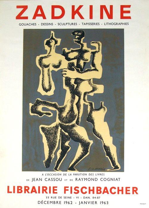Litografia Zadkine - Librairie Fischbacher
