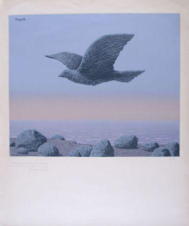 Litografia Magritte - L'Idole - Rock Bird