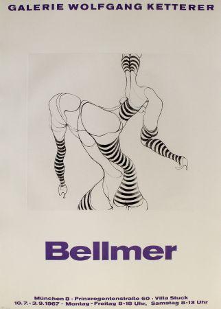 Incisione Bellmer - Liegende in Strümpfen