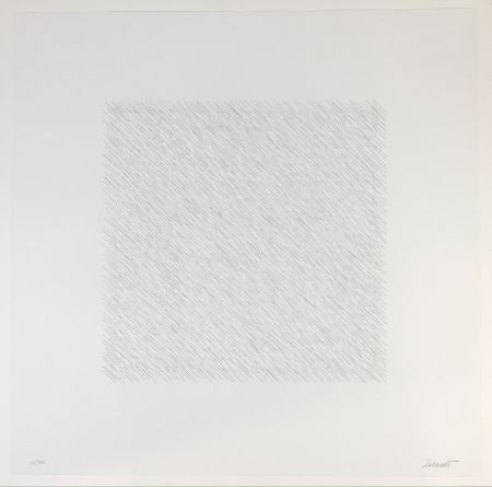 Litografia Lewitt - Lines of One Inch Four Directions Four Colors