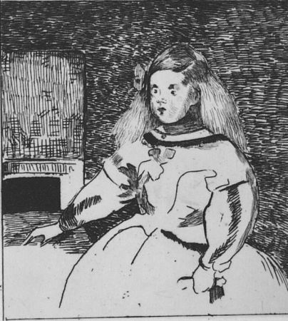 Acquaforte Manet - L'infante Marguerite