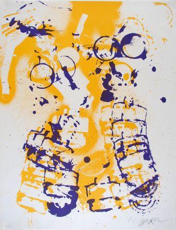 Litografia Arman - L'intérieur des choses V : Le Masque à Gaz