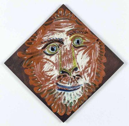 Ceramica Picasso - Lion'S Head, 1968-1969