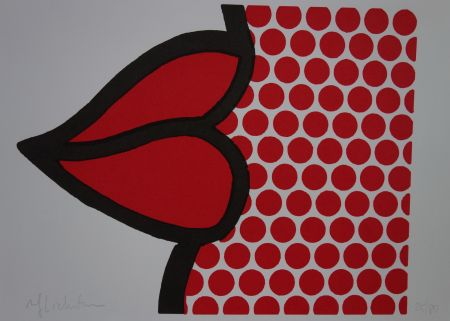 Serigrafia Lichtenstein - Lips