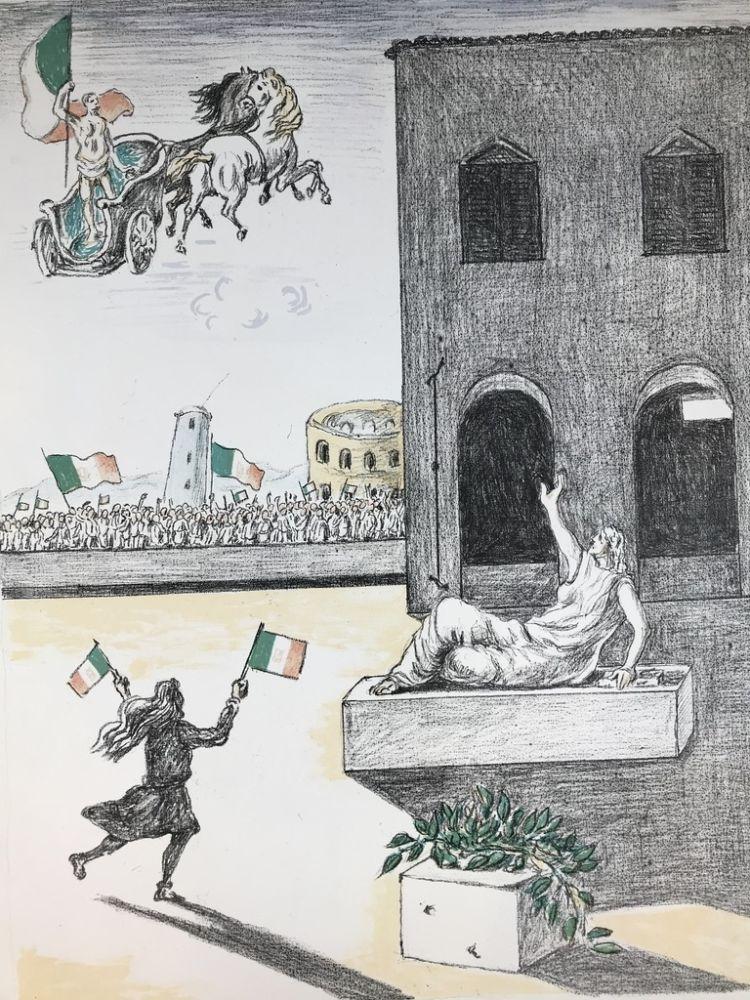 Litografia De Chirico - L'Italia del centenario