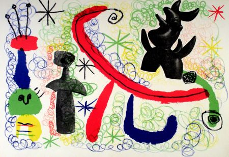 Litografia Miró - Litho 1950